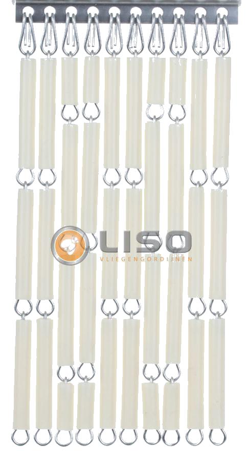 Liso vliegengordijnen, Liso Vliegengordijn, Liso ® Vliegengordijnen Creme Kant en Klaar 92x209cm