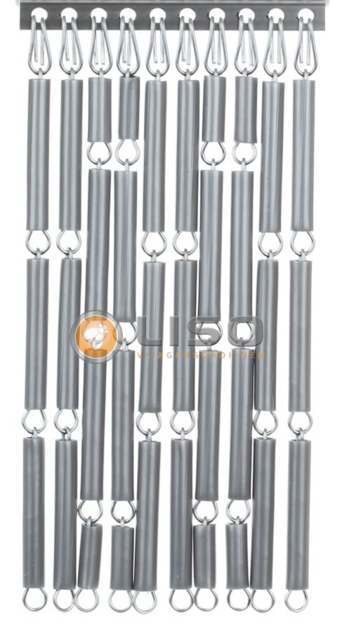 Vliegengordijn, Liso ® Vliegengordijnen Zilver Kant en Klaar 92x209cm