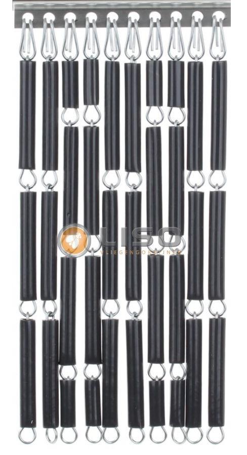 Liso vliegengordijnen, Liso Vliegengordijn, Liso ® Vliegengordijnen Antraciet Kant en Klaar 92x209cm