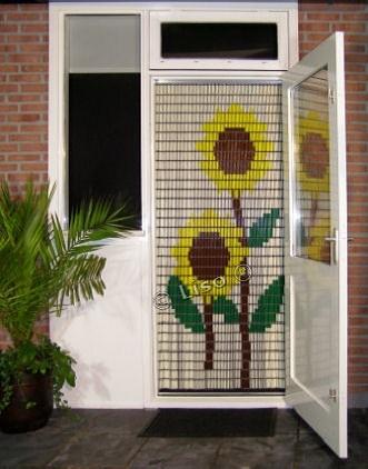 002 Liso Vliegengordijn Zonnebloemen, Vliegengordijn met motief,