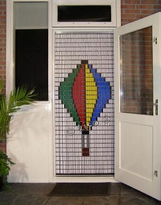 030 Liso vliegengordijn Luchtballon, Vliegengordijn met motief,
