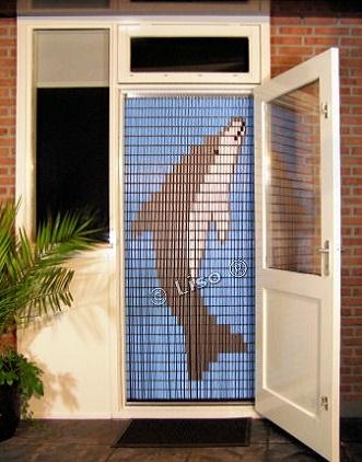 044 Liso vliegengordijn Dolfijn, Vliegengordijn met motief,