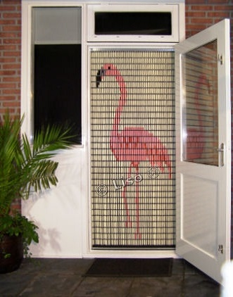 055 Liso vliegengordijn Flamingo, Vliegengordijn met motief,