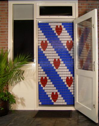 056 Liso vliegengordijn Friesche flag, Vliegengordijn met motief,