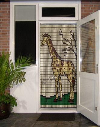 069 Liso vliegengordijn Giraffe, Vliegengordijn met motief,