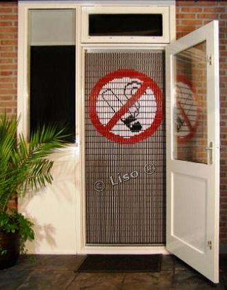 113 Liso vliegengordijn Verboden te roken, Vliegengordijn met motief,