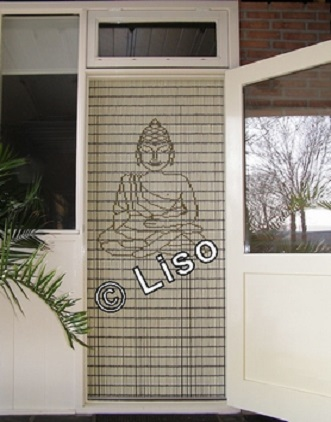 117 Liso vliegengordijn Boeddha klein, Vliegengordijn met motief,